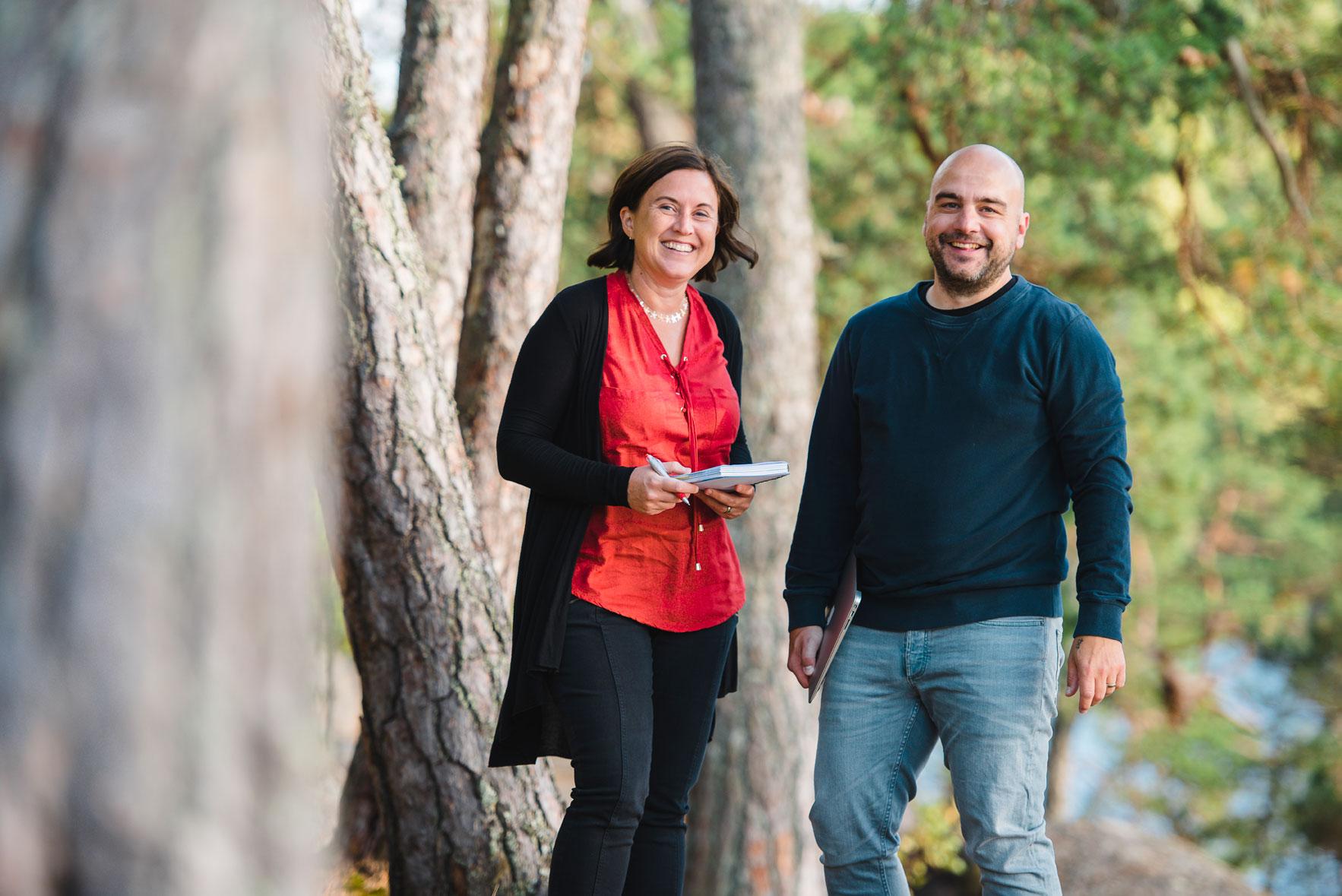 Joakim Hedström och Helene Engström
