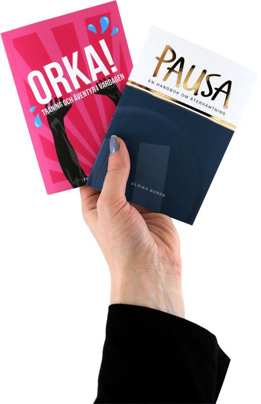 Två snabblästa och vykortsstora handböcker från bokförlaget Eget Förlag