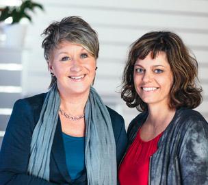 Kristina Swenningsson och Ewa Svensson, författare