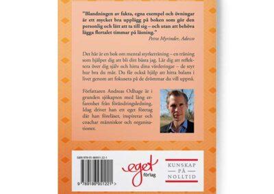 Baksidan av boken Bli ditt bästa jag – grunderna i självledarskap, av Andreas Odhage