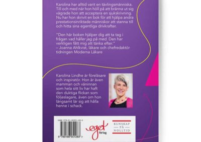 baksidan av boken Extra allt, av Karolina Lindhe