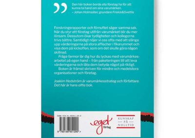 Baksidan av boken Fråga farmor, av Joakim Hedström