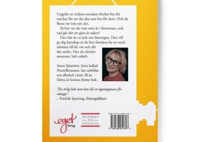 Baksidan av boken Glasklart - drick smartare, författare Anna Sjöström