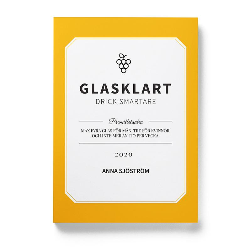 Framsidan av boken Glasklart - drick smartare, författare Anna Sjöström