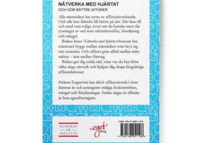 Baksidan av boken Nätverka med hjärtat – och gör bättre affärer, av Helene Engström