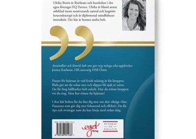 Baksidan av boken Pausa – en handbok om återhämtning, av Ulrika Borén