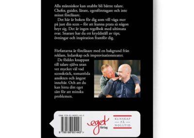 Baksidan av boken Prata så någon bryr sig, Joakim Hedström och Magnus Bergman