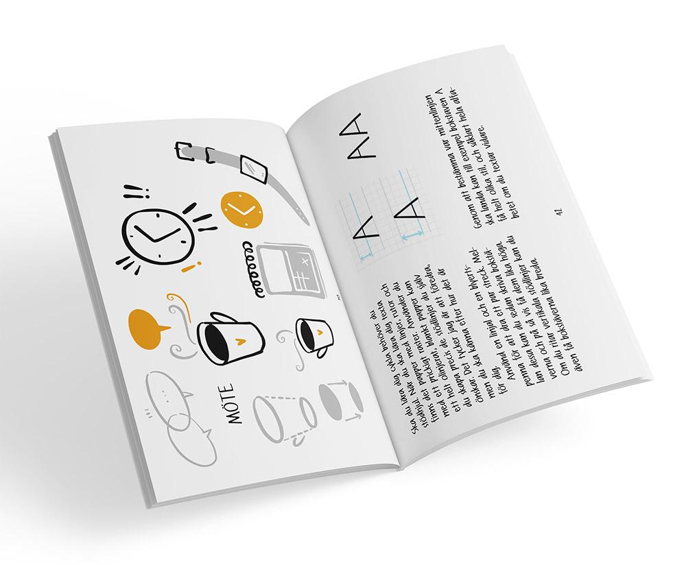 Uppslag från boken Alla kan rita symboler