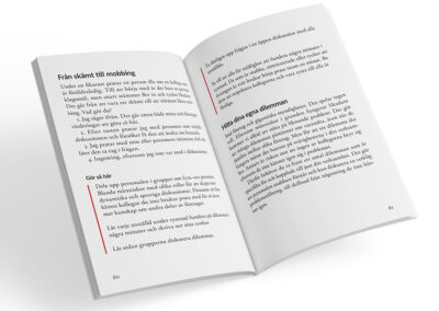 Uppslag från boken Fråga farmor - varumärkesarbete i vardagen