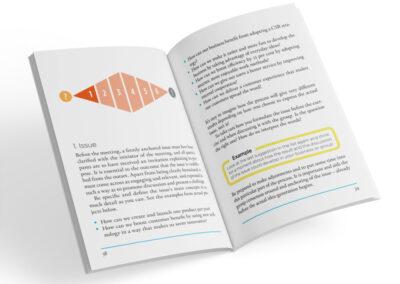 Uppslag från boken Roadmap for effective and creative meetings