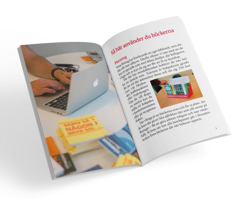 Uppslag från Kunskap på nolltid-häftet med tips på böcker till jobbet