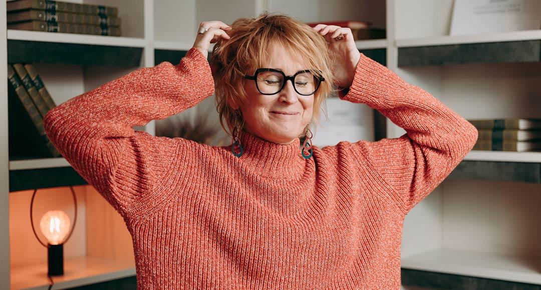 Författare Anna Sjöström, alias Promilletanten, som föreläser om alkohol och bland annat har skrivit boken Glasklart - drick smartare