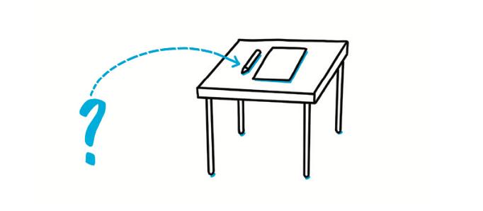 Alla kan texta snyggt - Hur känns det att sitta? Är bordet stabilt? Ligger papperet bra?