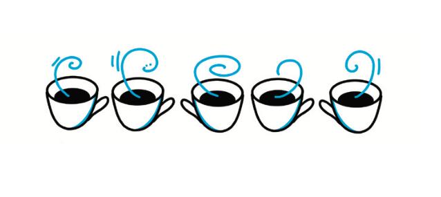 Alla kan texta snyggt - Snyggt kaffeskakande händer eller något mer stillsamt?